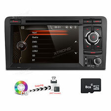 GPS Navigation DVD Player 2DIN Car Radio Stereo 1080P Bluetooth for Audi A3 S3