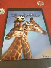 2010 SOUTH AFRICA COMMEMORATIVE GIRAFFE SOCCER POSTER 24 x 18 EXCELLENT COND.