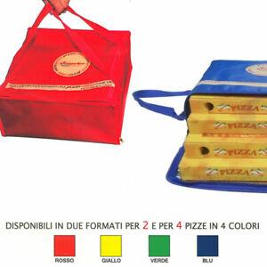 BORSA PER 4 PIZZE TERMICA 36x36x18H TRASPORTO CONTENITORE BOX TRASPORTINO PIZZA