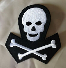 """Masonic, Skull And Bones, 4""""x4"""" Embroidered Patch"""