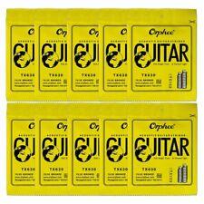 10 Sets Orphee Tx630 Acoustic Guitar Strings Anti-Rust Bronze Strings 011-052