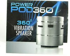 Power Pod 360 Vibration Speaker USB Cable Lithium Battery 52mm X 59mm