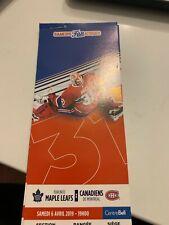 unused season hockey tickets Canadiens featuring Carey price april 6 2019