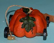 "Boyds Bears Tug Along 654238 ""Pumpkin Express"" garden, autumn, Thanksgiving Nib"
