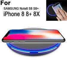 DE Qi Wireless Power Charge Ladegerät Ladestation Für Samsung Galaxy S8 Iphone 8