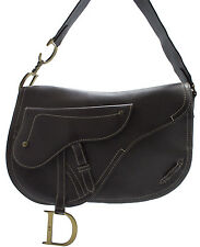 Christian Dior Saddle Messenger Bag Shoulder Schultertasche Tasche Zeitlos Braun
