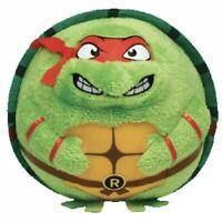 "Teenage Green Mutant Ninja Turtles Raphael 8"" TY Beanie Babies Plush Ball Toy"