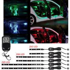 18 Color 6pcs Rgb Motorcycle Atv Flexible Strip Led Light Lamp Neon Remote Kit(Fits: Hornet)