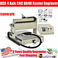 New Listingusb 4 Axis Cnc 6040 Router Engraver 1500w Vfd Cutter Milling Drilling Machine