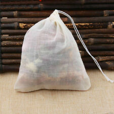 Pack 200 4x6in Natural Cotton Muslin Drawstring Bags Spice Herb Tea Soap 10x15cm