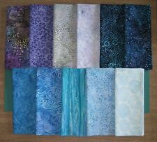 """RIVIERA BATIKS"" by Timeless Treasure Tonga, 11 Fat Quarters 100% Cotton Grp #1"