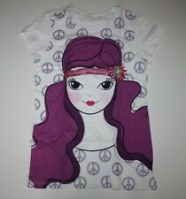 New Peace Girl Graphic Glitter Tee Shirt Girls 14 Year NWT The Children's Place