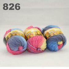 Sale New 3 Skeinsx50g Rainbows Coarse Hand Knit Quick Wool Yarn Shawl Scarves 26
