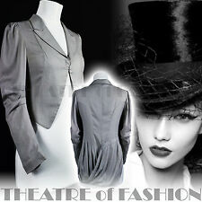 ALL SAINTS SILK TAILCOAT RIDING COAT JACKET VINTAGE VICTORIAN MISTRESS 18c VAMP