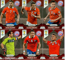 2014 Brasil FIFA World Cup Soccer Prism Card Base Team Set Chile (6)