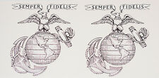 "2 LARGE (11""x13"") US Marine decals SEMPER FI   Free Shipping"