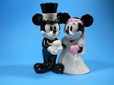 Mickey Minnie Mouse Bridal Wedding Cake Topper Figurine Bride and Groom Shiny