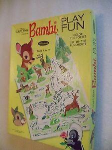 1966 vintage Walt Disney Bambi Play Fun by Whitman #4755:1.00 thumper
