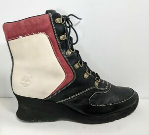 Timberland wedge lace up bootie boot Women's Size 9M