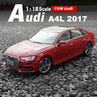 2017 AUDI A4 L Red 1:18 Diecast Model ALL NEW Audi A4L Car Collection Gifts
