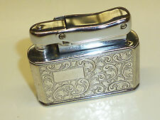 IBELO MONOPOL AUTOMATIC LIGHTER W. E.P.N.S. SILVER PLATED CASE - 1952 - GERMANY