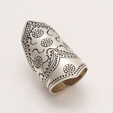 Unique Ring Women Adjustable Jewelry 925 Solid Sterling Silver Bohemian Vintage