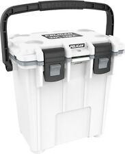 New Pelican Elite 20QT Marine Cooler/Ice Chest Made in USA #20Q-1-WHTGRY