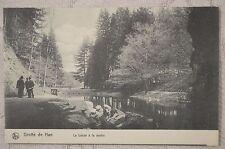 """CPA """" Grotte de HAN - La Lesse à la sortie"""