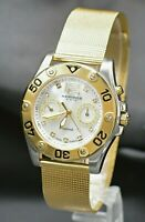 AKRIBOS XXIV DIAMOND SWISS QUARTZ MULTI-FUNCTION AK553YG MEN'S GOLD TONE WATCH