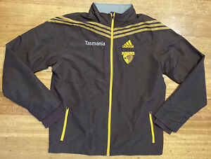 Hawthorn Hawks AFL Adidas Player Issue Jacket Warm Up Tracksuit Top - M