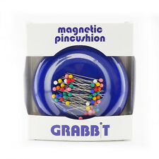GRABBIT Blue Magnetic Pincushion With Ball Head Pins