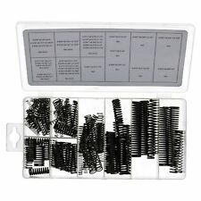 114pc Compression Spring Extension Tension Extended Springs Coil Black Finish