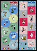 Japan 2018 Moomin Trickfilme Zeichentrickfiguren Comics Cartoons Kleinbogen MNH