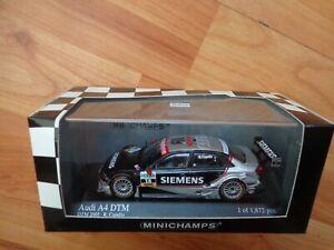 MINICHAMPS 1/43 Audi A4 DTM 2005 Equipo Joest R Capello Metal Coche 400 051418
