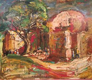 Rudolph J Schmidt Original Oil Painting 1963 -Patzcuaro Mexico View #2