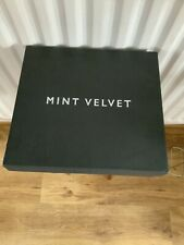 Mint Velvet Jodie Ankle Boot Size 6 Burgundy Leather