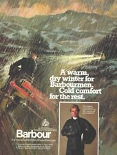 an A4 Magazine Advertisement for Barbour Motorcycle Jackets