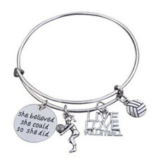 Volleyball Jewelry - Volleyball Bangle Bracelet - Perfect Volleyball Gift