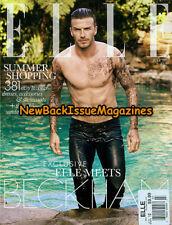 UK Elle 7/12,David Beckham,Cover 2 of 2,July 2012,British,RARE,NEW