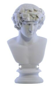 Antinous as Dionysus Bust head Greek Statue Sculpture Cast Marble Copy
