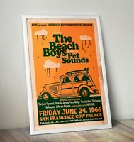 The Beach Boys Poster, Beach Boys Gig Poster, Wall Art, FREE UK DELIVERY