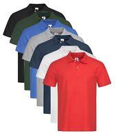 Mens Mans Plain Polycotton Polo Workwear Golf Sports Shirt No Logo
