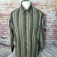 BUGATCHI UOMO MEN'S STRIPED COTTON CASUAL LONG SLEEVE SHIRT SIZE L  C01-17