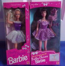 Walmart Pretty Purple '92~Pretty Choices '96 Great Cond. Barbie Nrfb Lot-2 Dolls