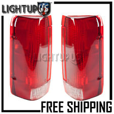 1990-1997 FORD BRONCO F150 F250 PICKUP Left Right Pair Rear Brake Tail Lights
