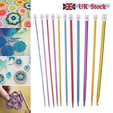 "UK 11x 10.6"" Aluminum TUNISIAN AFGHAN Crochet Hook Knit Needles Set 2-8mm"