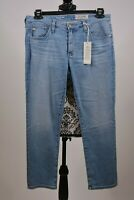 AG-ED DENIM Women's Blue The Prima Crop Cigarette Size 30