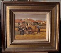 Pedro Fraile (Spain b1957) Rural Farmstead in Valencia,Spain Oil Painting c1980s