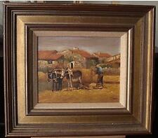 Pedro Fraile (España b1957) Rural Granja en Valencia, España pintura al óleo c1980s