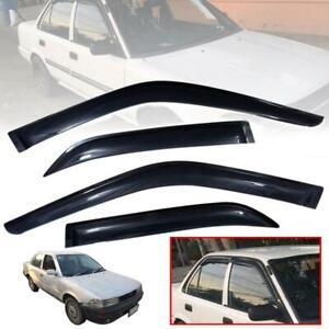 Wind Deflector Rain Sun Visor Fit Toyota Corolla AE90 AE92 EE90 Sedan 1987-1992